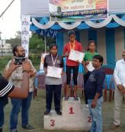 1.Priti dubey of std VII won bronze medal in u-12 ,indian round